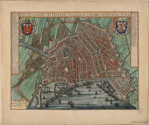 1649 Map of Amsterdam, Willem Blaeu.