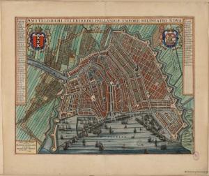 1649 Map of Amsterdam, Willem Blaeu.