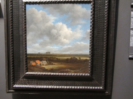 view of linen fields, towards Haarlem. van Ruisdael.