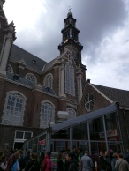 Westerkerk from Westermarkt 6, pavement view.