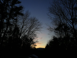 sunset over Monadnock
