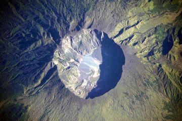 Mount Tambora summit caldera