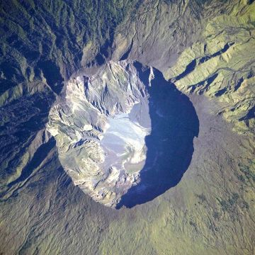 Mount Tambora summit caldera