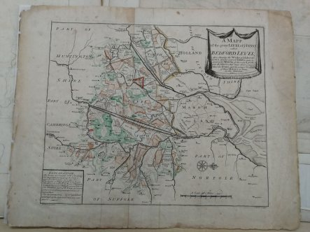 The Fens, 1723. (Bedford Level Commission archive, Cambridgeshire Record Office).