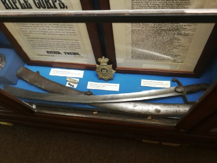 cutlass used at Littleport riot, Wisbech Museum.
