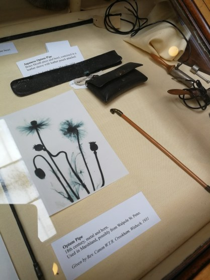 opium pipes, Wisbech Museum